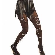 Halloweenaccessoires: Vleermuis panty's