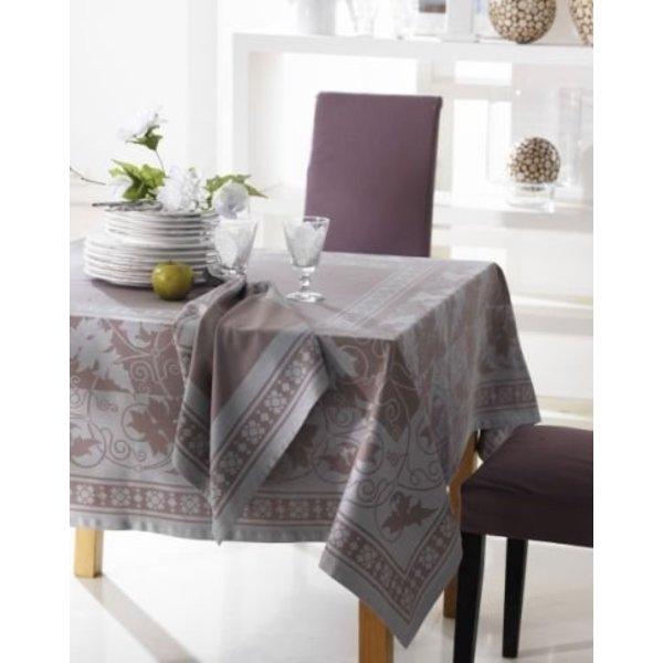 Oronti zilver tafellinnen 160x160 en 160x310, vanaf