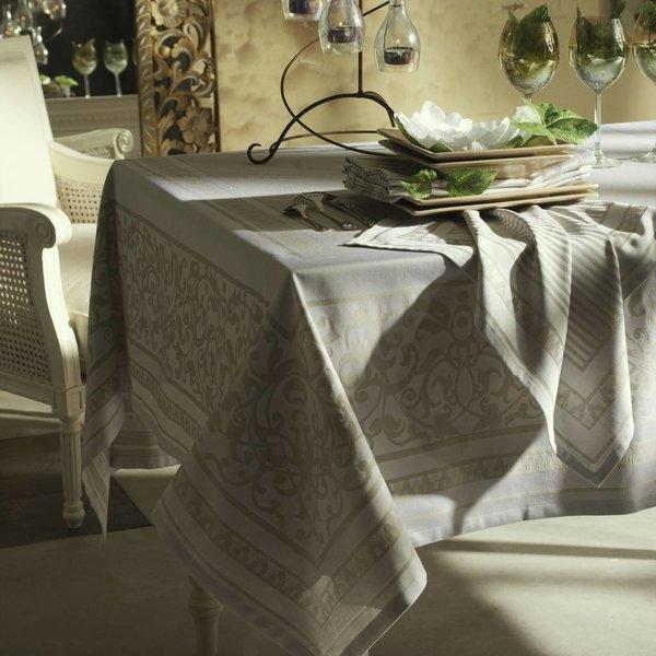 Amboise wit/grijs tafellinnen