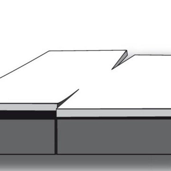Dubbel split topper hoeslaken katoen satijn 5-6 cm hoog