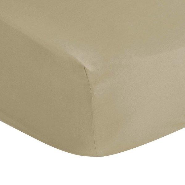 Hoeslaken taupe matrashoogte tot 20 cm hoog