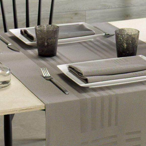 De Witte Lietaer Deauville sand servetten en tafellaken   LiensLinnenwinkel nl