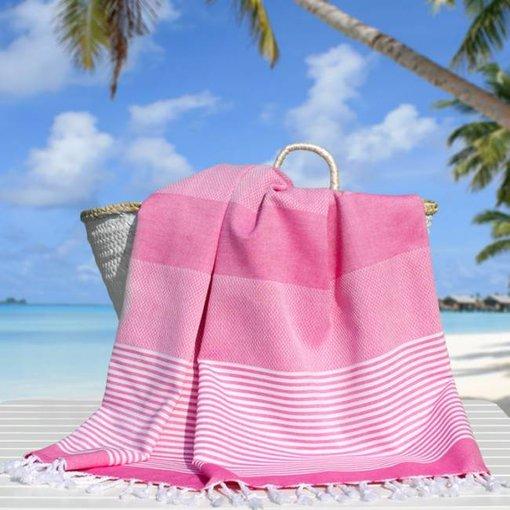 Fashion4Wellness Hamamdoek Deniz Size 4 - 100x200 roze (candy pink)