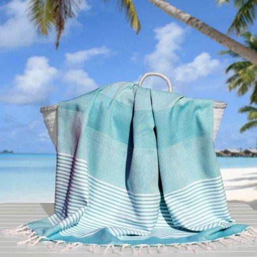 Fashion4Wellness Hamamdoek Deniz Size 4 - 100x200 aqua