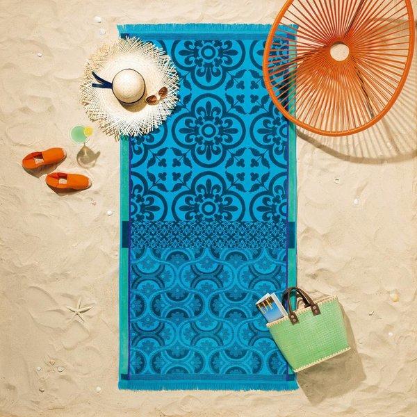 Strandlaken Santorin turquoise