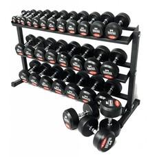 PTessentials PRO Ronde Rubberen Dumbbells | Set 2 t/m 30 kg