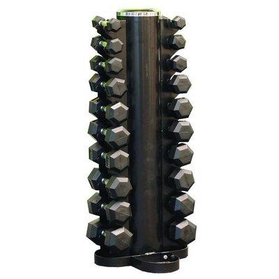 PTessentials Dumbbellset 1 t/m 10 kg inclusief opbergtoren