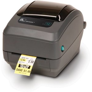 Zebra TT etiketten printer GK420T (Thermal Transfer) ethernet aansluiting