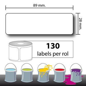 Diamondlabels 28x89mm. 130 P/R. Verfmengmachine etiketten (SLP-2RL)