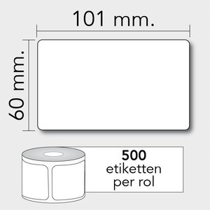Diamondlabels Diamondlabels thermisch direct DTD07 papier TC 101x60mm Kern 25mm 500 per rol