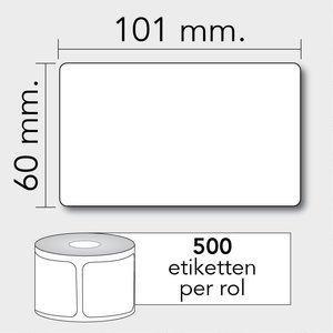 Diamondlabels TD 101x60 mm. 500 per rol kern:25mm Zebra etiketten