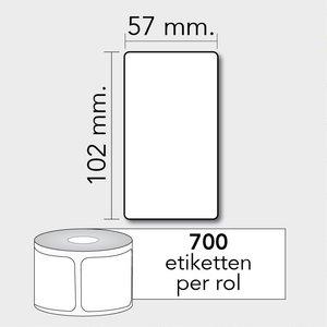 Diamondlabels Diamondlabels thermisch direct DTD09 papier Eco 57x102mm Kern 25mm 700 per rol
