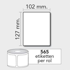 Diamondlabels TD 102x127 mm. 565 per rol kern:25mm Zebra etiketten 800264-505