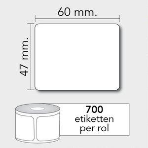 Diamondlabels TD 60x47 mm. 700 per rol kern:25mm Zebra etiketten