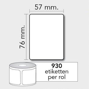 Diamondlabels TD 57x76 mm. 930 per rol kern:25mm Zebra etiketten 3007209-T