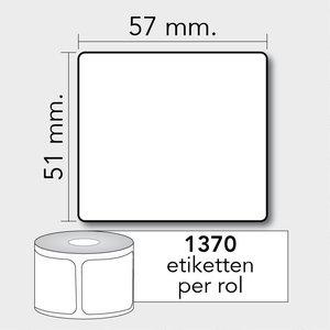Diamondlabels Diamondlabels thermisch direct DTD09 papier Eco 57x51mm Kern 25mm 1370 per rol