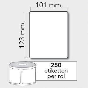 Diamondlabels TD 101x123 mm. 250 per rol kern: 25mm Zebra etiketten