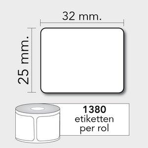 Diamondlabels 32x25 1380 etiketten TD, kern 25mm