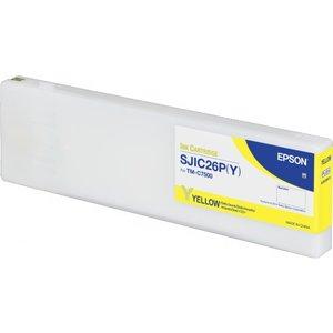 Epson SJIC26P(Y) Inktcartridge Colorworks TMC7500 Geel (Yellow) C33S020621