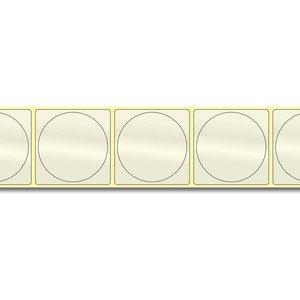 Diamondlabels Ø50 mm. 500 inkjet PP transparante kunststof labels permanente lijm & Glossy etiketten