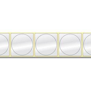 Diamondlabels Ø50 mm. 600 inkjet labels permanente lijm & Glossy etiketten