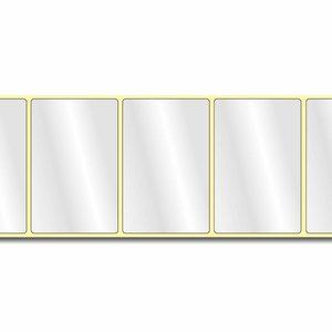 Diamondlabels 85 mm x 55 mm. 600 glossy inkjet labels permanente lijm & glossy labels