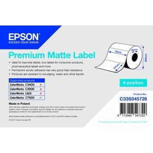Epson Epson premium mat papier, 76x127mm inkjet