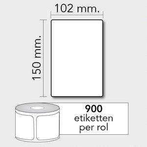 Diamondlabels TD 102x150 mm. 900 per rol kern: 76mm Zebra verzendetiketten 800264-605