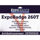 Diamondlabels ExpoBadge-260T 96x134 scheurbestendig ButterflyBadge