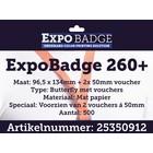 Diamondlabels ExpoBadge-260+ 96x134 Butterfly incl. vouchers