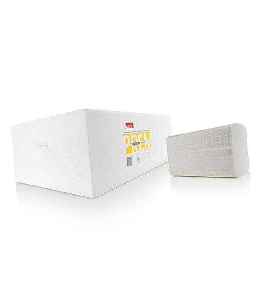 Satino Premium Handdoekjes 2-lgs, tissue V-vouw 22x32 cm. - Wit