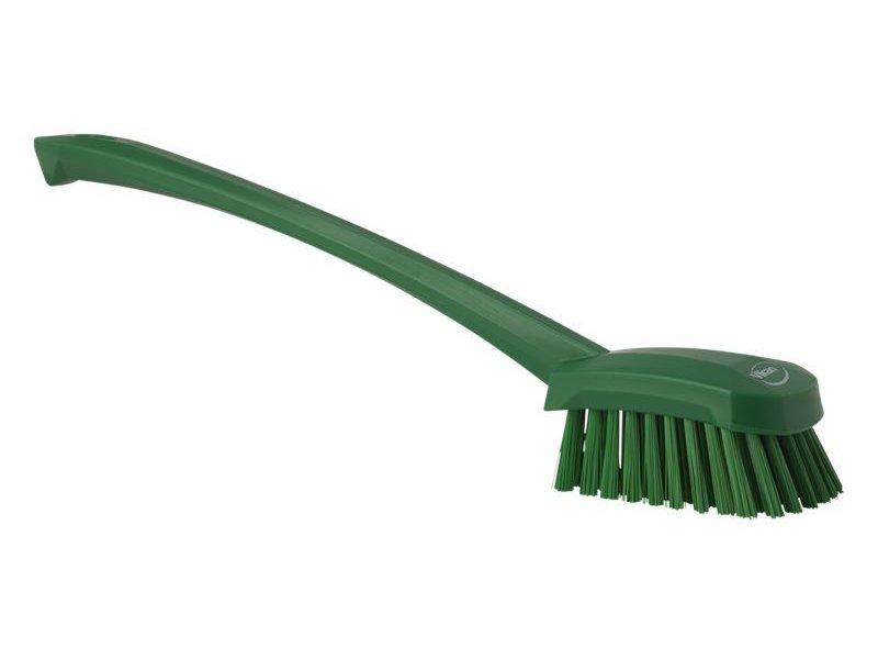 Vikan afwasborstel met lange steel, hard, groen