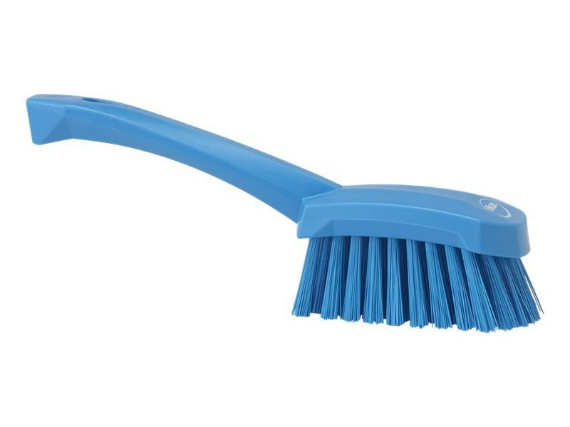 Vikan  afwasborstel met korte steel, hard, blauw