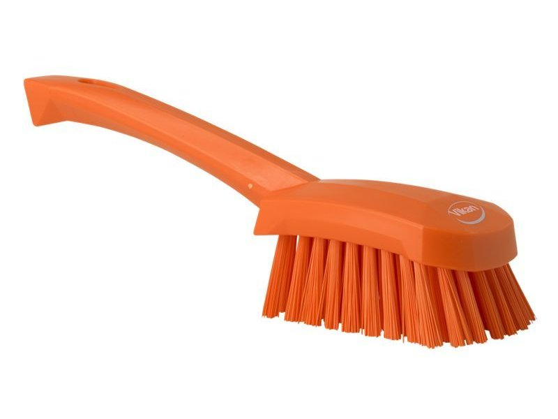 Vikan  afwasborstel met korte steel, hard, oranje
