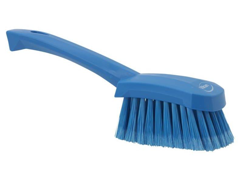 Vikan  afwasborstel met korte steel, zacht, blauw