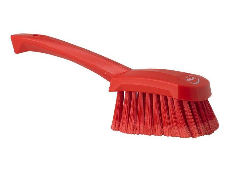 Vikan  afwasborstel met korte steel, zacht, rood