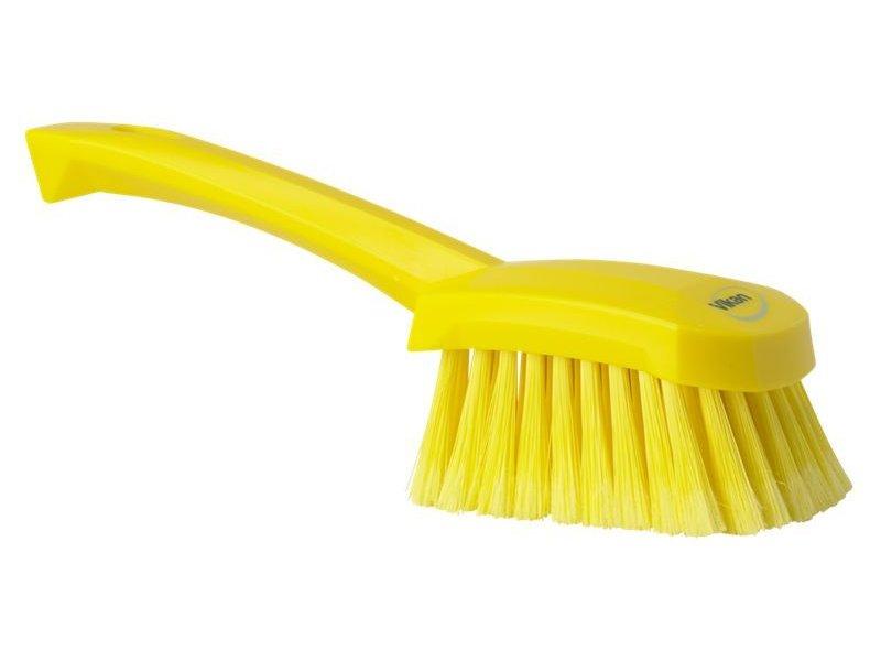 Vikan  afwasborstel met korte steel, zacht, geel