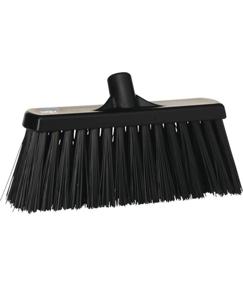 Vikan bezem, 30 cm, hard, zwart