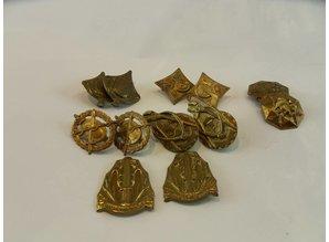 Nederlands leger oud Schouderstukken 6 x set Div onderdelen
