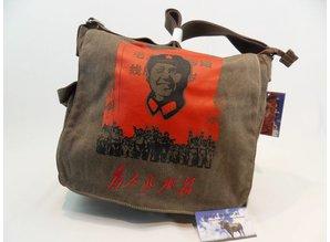Trendy Schoudertas met afb Mao Zedong.