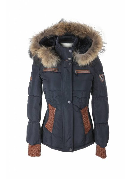 Feronetti Milano Dames winterjas met Bontkraag