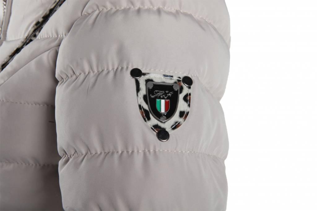 Feronetti Milano Dames winterjas met Bontkraag Beige