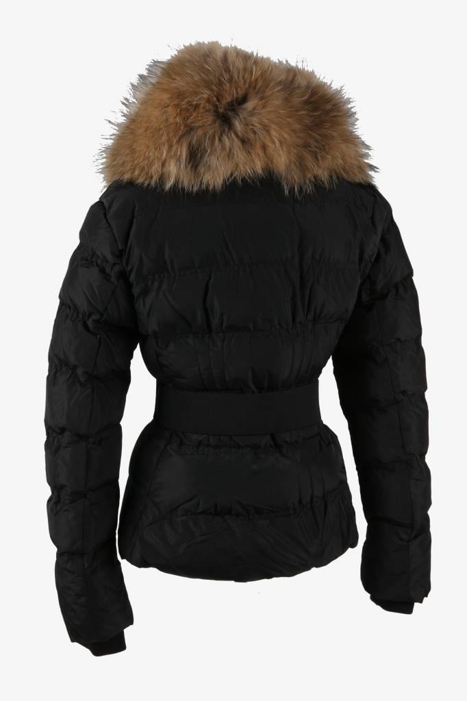 Adrexx Dames winterjas met Bontkraag M603 zwart