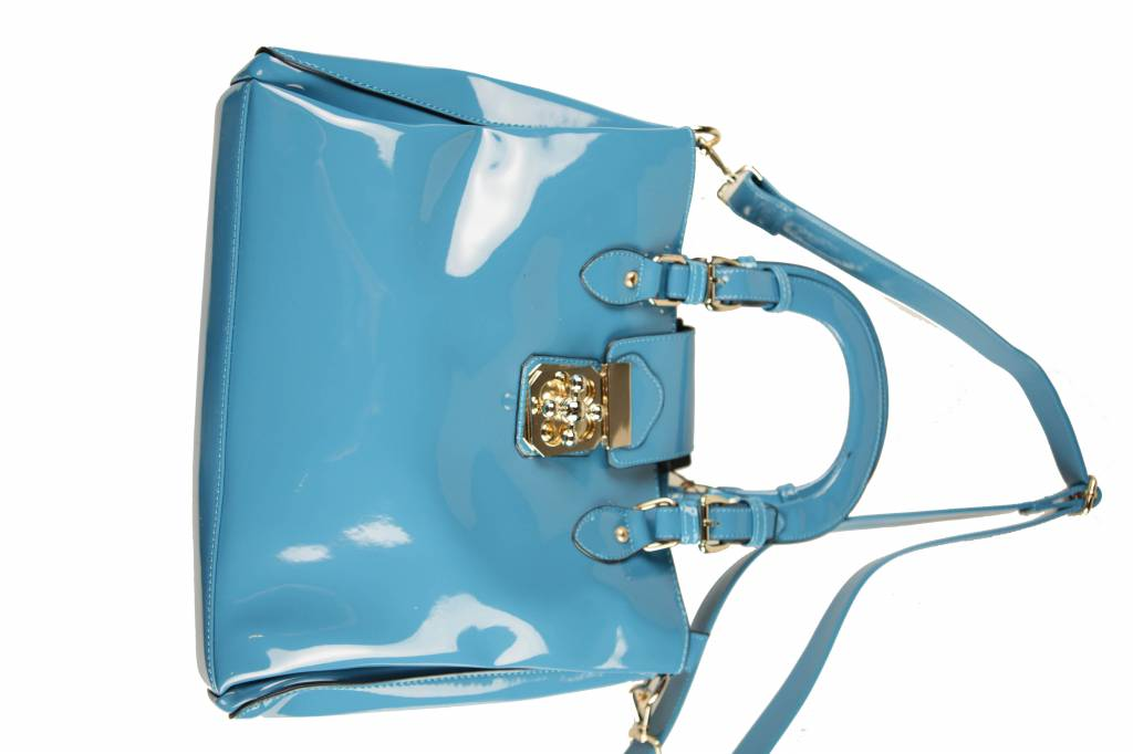 Dames tas blauw B23
