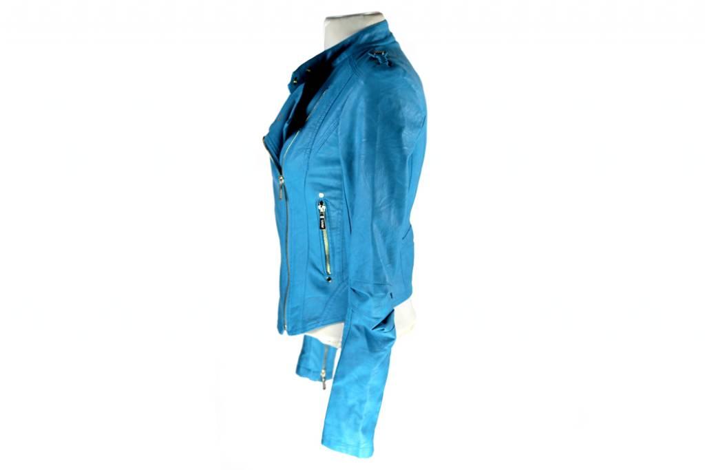 Dames imitatieleren jack Toxik3 blauw