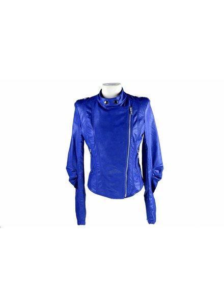 Dames imitatieleren jas Toxik3 blauw