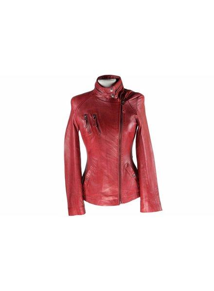Carlo Sacchi Dames Leren jas AK17 rood