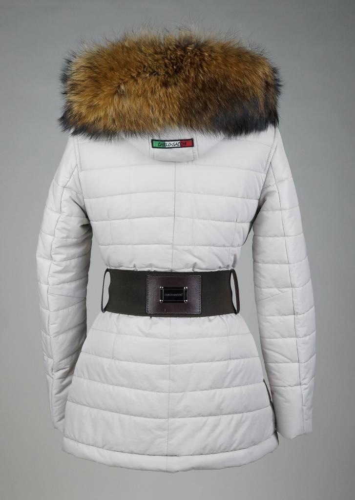 Dames winterjas met bontkraag 2063 grijs leather city online - Badkamer meubilair merk italiaans ...