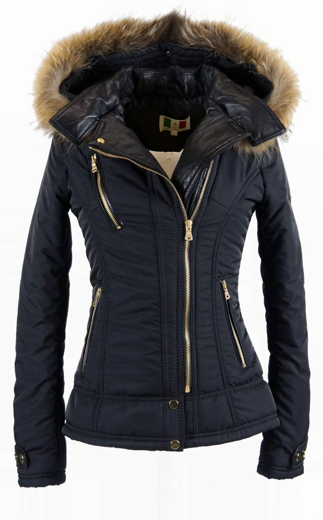 Milan Ferronetti Dames winterjas zwart bella
