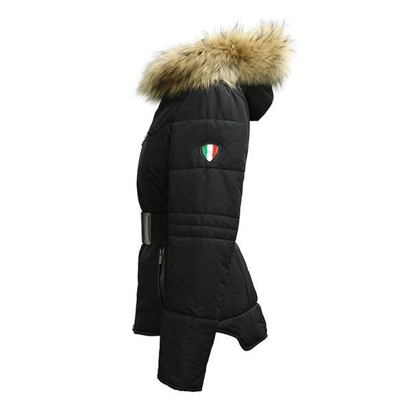 Carlo Sacchi Dames dames winterjas zwart 037